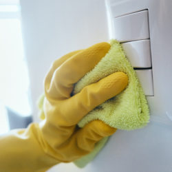 disinfect high-touch surfaces in the home